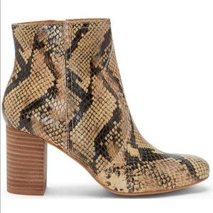 Lucky Brand Animal Print Beige Ankle Boots NEW
